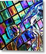 Glass Abstract 696 Metal Print