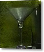 Glass And Bottle Metal Print