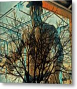 Glass And Branches  Metal Print