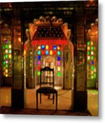 Glass And Mirror Room City Palace Udaipur Metal Print