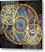 Glass Baubles Metal Print
