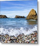 Glass Beach, Fort Bragg California Metal Print