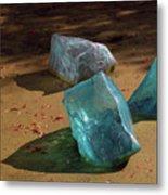 Glass Blocks With Shadows Metal Print