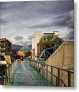 Glass Bridge To The Aquarium Metal Print