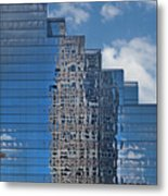 Glass Building Reflections Metal Print