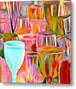Glass Collection Metal Print