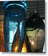 Glass Colors Metal Print
