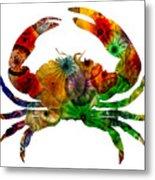 Glass Crab Metal Print