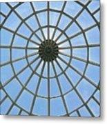 Glass Dome At Hall Of Liberation At Kelheim  Metal Print by Lori Seaman
