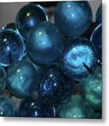 Glass Grapes Metal Print