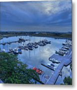 glass Harbour Metal Print by Mario Legaspi
