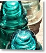 Glass Insulators Metal Print