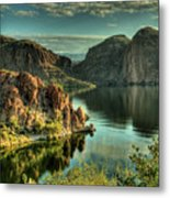 Glass Lake Metal Print