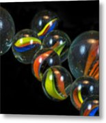 Glass Marbles Metal Print