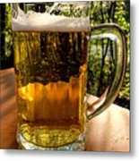 Glass Of Beer Metal Print