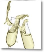 Glasses Of Champagne Metal Print
