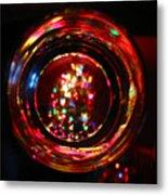Glass Of Christmas Tree Metal Print