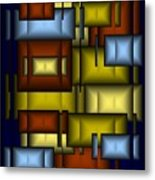 Glass Tile Abstract Metal Print