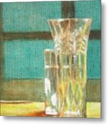 Glass Vase - Still Life Metal Print