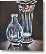 Glass Vases-still Life Metal Print