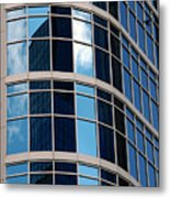 Glass Window Reflection Metal Print