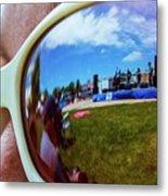 Glasses Reflect Metal Print