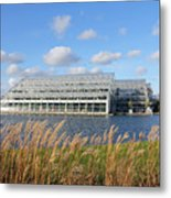 Glasshouse At Rhs Wisley Surrey Uk Metal Print