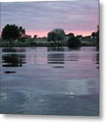 Glassy River Reflection Metal Print