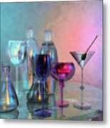 Glassy Still Life Metal Print