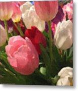 Glazed Tulip Bouquet Metal Print