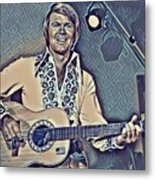 Glen Campbell Abstract Metal Print