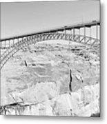 Glen Canyon Bridge Bw Metal Print