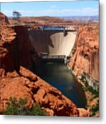 Glen Canyon Dam - Arizona Metal Print