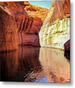 Glen Canyon Reflections Metal Print