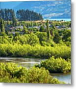 Glenorchy Lagoon At Golden Hour, New Zealand Metal Print