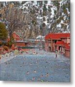 Glenwood Springs Hot Springs In Winter Metal Print