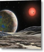 Gliese 581 C Metal Print by Lynette Cook