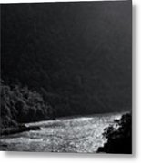 Glimmer On The Ganges Metal Print
