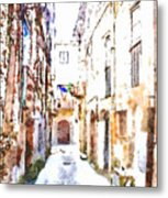 Glimpse Away With The Town Hall Metal Print