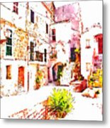 Glimpse Of The External Houses Of The Village Metal Print