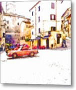 Glimpse With Cars Metal Print