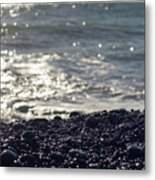 Glistening Rocks And The Ocean Metal Print
