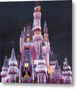 Glittering Cinderella Castle Metal Print