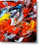 Glittering Of Koi Metal Print