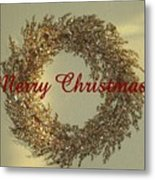 Glittery Wreath Metal Print