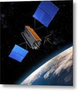 Global Positioning System Satellite In Orbit Metal Print