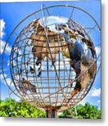 Globe At Columbus Circle Metal Print