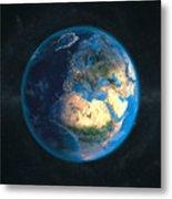 Globe Daynight Europe Metal Print