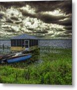 Gloomy Day By The Lake Metal Print