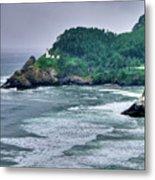 Gloomy Heceta Lighthouse  Metal Print